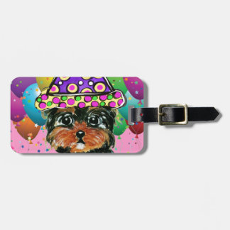 Yorkie Poo Party Dog Luggage Tag