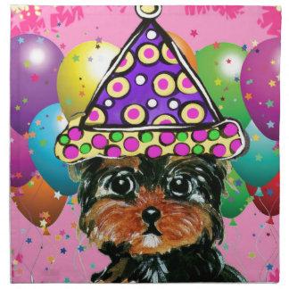 Yorkie Poo Party Dog Napkin