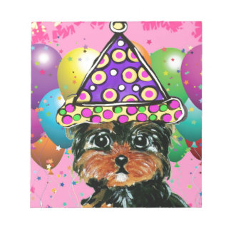 Yorkie Poo Party Dog Notepad