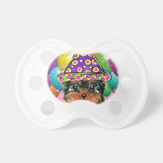 Yorkie Poo Party Dog Pacifier