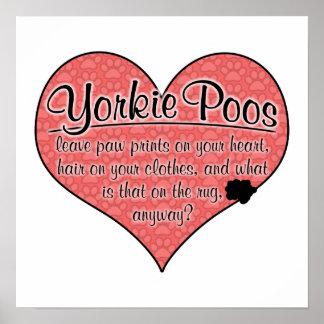 Yorkie Poo Paw Prints Dog Humor Poster