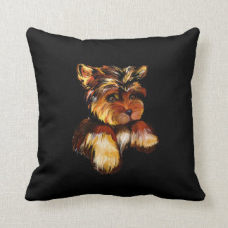 YORKIE POO THROW PILLOW