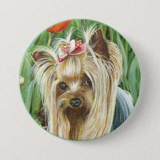 Yorkie Portrait Button