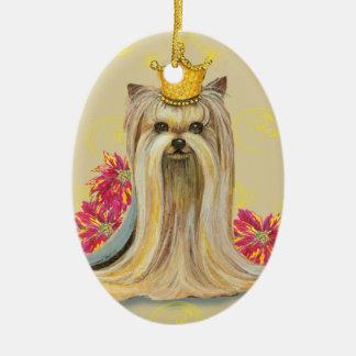 Yorkie Princess Christmas Tree Ornament