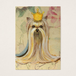 Yorkie Princess in Crown Business Card