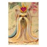 Yorkie Princess in Crown Redd Heart Business Card Template