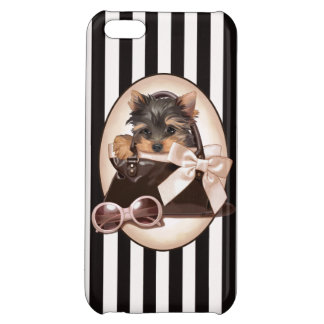 Yorkie Puppy and Handbag iPhone 5C Covers
