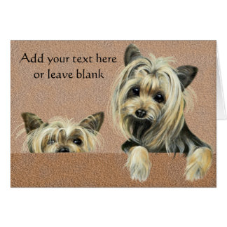 Yorkie Puppy Dog Note card, Thank you cards