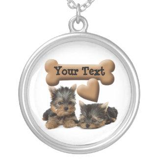 Yorkie Puppy Love Heart Custom Pendant Necklace