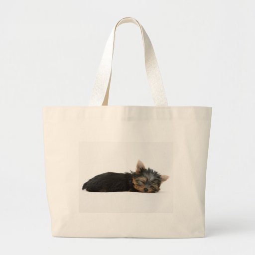 Yorkie Puppy Sleeping Jumbo Tote Bag