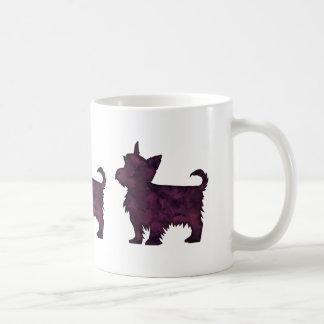 Yorkie Purple Watercolor Silhouette Coffee Mug