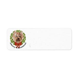 Yorkie Return Address Label