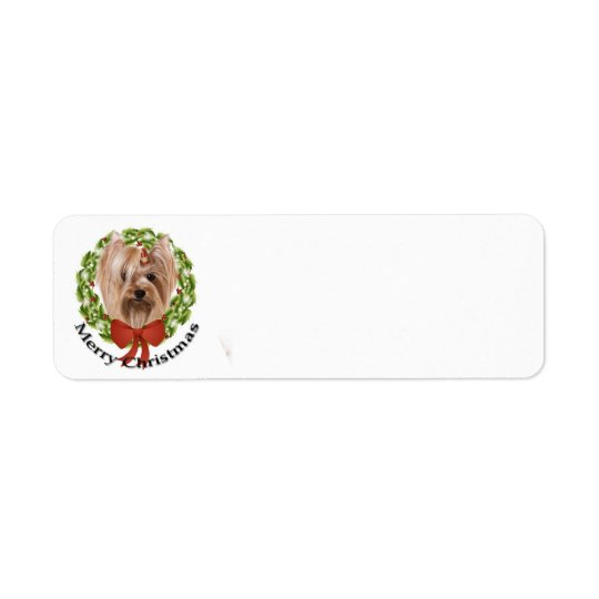 Yorkie Return Address Label