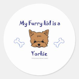 Yorkie Round Sticker