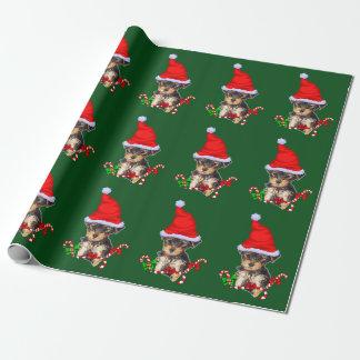Yorkie Santa Christmas Wrapping Paper