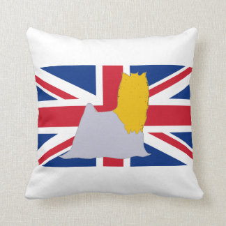yorkie silo on flag blue and gold throw pillow