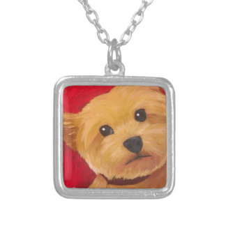 Yorkie Silver Plated Necklace