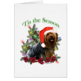 Yorkie 'Tis the Season  Card