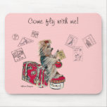 Yorkie Travelling Paris Mouse Pad