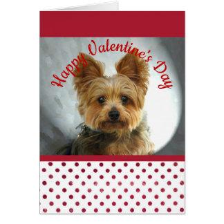Yorkie Valentine Card