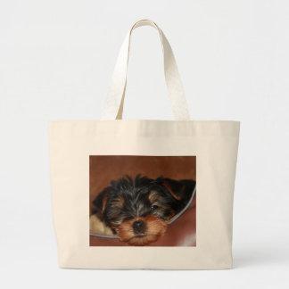 Yorkie Wink Jumbo Tote Bag