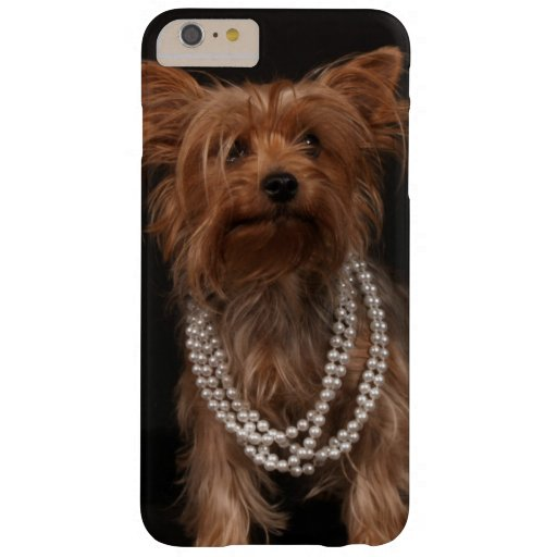 Yorkie with Pearls Barely There iPhone 6 Plus Case