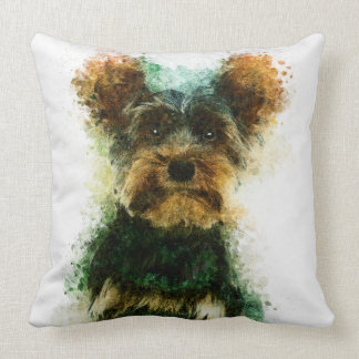 Yorkie / Yorkshire Terrier Pet Portrait Throw Pillow