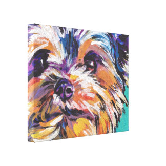 yorkie Yorkshire Terrier Pop Art On Wrapped Canvas