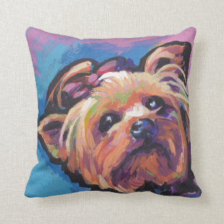 Yorkie Yorkshire Terrier Pop Art Throw Pillow