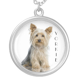 "Yorkie ""Yorkshire Terrier"" Silver Pendant Necklace"