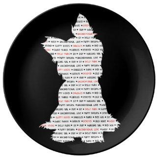 Yorkie / Yorkshire Terrier Word Art Plate
