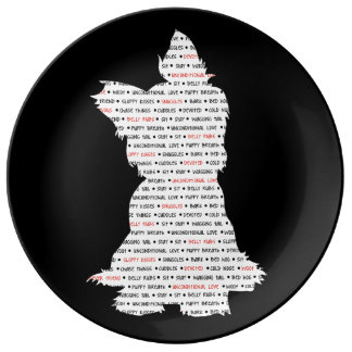 Yorkie / Yorkshire Terrier Word Art Porcelain Plates