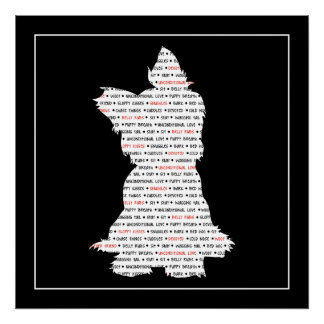 Yorkie / Yorkshire Terrier Word Art Poster