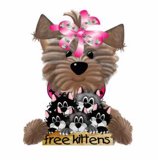 Yorkiegirl free Kittens Standing Photo Sculpture