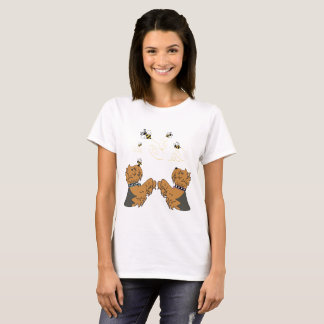 Yorkies and bees T-Shirt