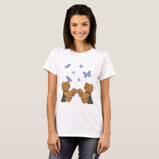 Yorkies and Butterflies T-Shirt