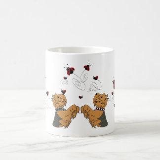 Yorkies and Ladybirds Coffee Mug