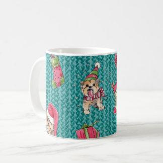 Yorkies at Christmas Coffee Mug