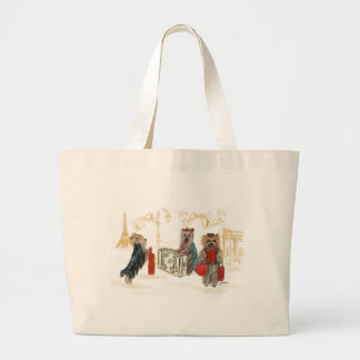 Yorkies Travelling Paris Tote Bag
