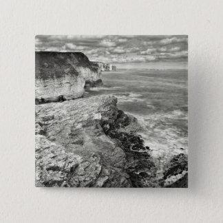 Yorkshire coast 2 inch square button