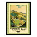 Yorkshire Dales Travel Poster Postcard