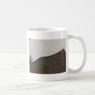 Yorkshire farm building with birds coffee mug