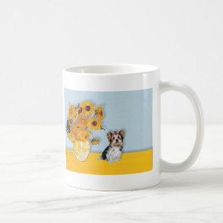 Yorkshire Terrier (Biewer) - Sunflowers Coffee Mug