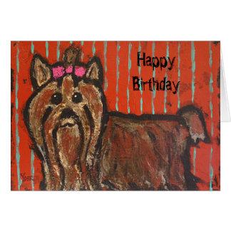 Yorkshire terrier birthday card