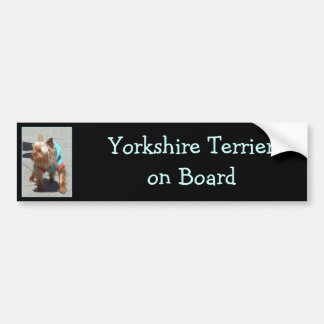 Yorkshire Terrier bumper sticker