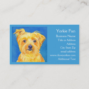 Yorkshire terrier business cards business card printing zazzle ca yorkshire terrier business card sammy reheart Choice Image