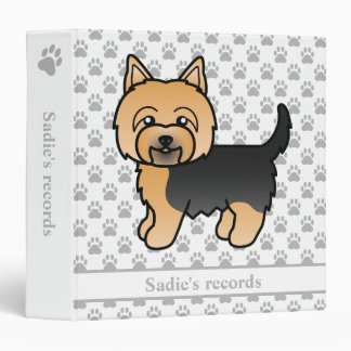 Yorkshire Terrier Cartoon Dog & Pet Records Text Vinyl Binder