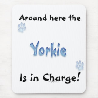 Yorkshire Terrier Charge Mouse Pad