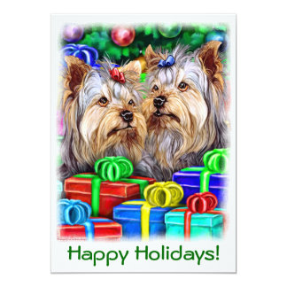 Yorkshire Terrier Christmas Gifts Card