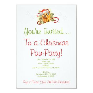 Yorkshire Terrier Christmas Invitation